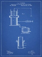 Blueprint Antique Beer Cask Diagram Patent Fine Art Print