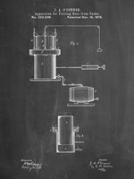 Chalkboard Antique Beer Cask Diagram Patent Fine Art Print