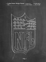 Chalkboard NFL Display Patent Fine Art Print