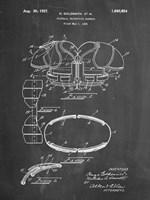 Chalkboard Football Shoulder Pads 1925 Patent Fine Art Print