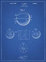 Blueprint Basketball 1929 Game Ball Patent Fine Art Print