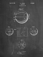 Chalkboard Basketball 1929 Game Ball Patent Fine Art Print
