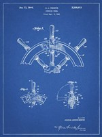 Blueprint Ship Steering Wheel Patent Fine Art Print