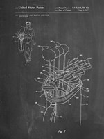 Chalkboard Golf Bag Patent Fine Art Print