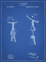 Blueprint Corkscrew 1883 Patent Fine Art Print