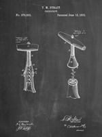 Chalkboard Corkscrew 1883 Patent Fine Art Print