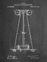 Chalkboard Tesla Energy Transmitter Patent Fine Art Print