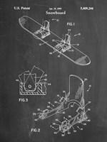 Chalkboard Burton Baseless Binding 1995 Snowboard Patent Fine Art Print