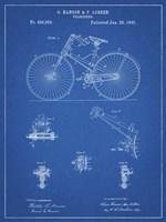 Blueprint Bicycle 1890 Patent Fine Art Print