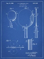 Blueprint Ping Pong Paddle Patent Fine Art Print