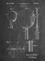 Chalkboard Ping Pong Paddle Patent Fine Art Print