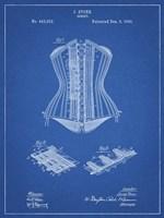Blueprint Corset Patent Fine Art Print