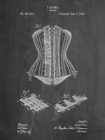 Chalkboard Corset Patent Fine Art Print