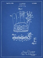 Blueprint Denkert Baseball Glove Patent Fine Art Print