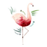 Tropical Icons Flamingo Fine Art Print