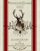 Reindeer Feedsack Fine Art Print