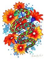 Mosaic Snake Fine Art Print