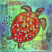 Mosaic Turtle II Fine Art Print