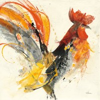 Festive Rooster I Fine Art Print