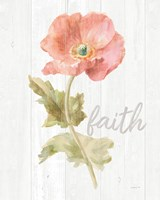 Garden Poppy on Wood Faith Fine Art Print