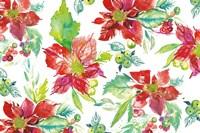Poinsettia Pretty V Fine Art Print