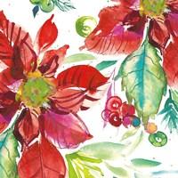 Poinsettia Pretty II Fine Art Print
