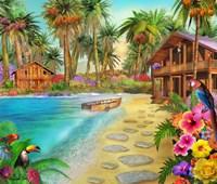 Date Palm Island Fine Art Print