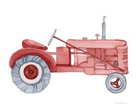 Life on the Farm Tractor Element Fine Art Print