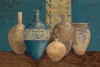 Aegean Vessels on Turquoise Fine Art Print