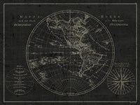 Mappemonde Etching v2 Fine Art Print