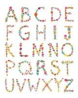 Floral Alphabet Fine Art Print