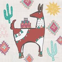 Playful Llamas IV Framed Print