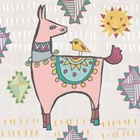 Playful Llamas III Framed Print