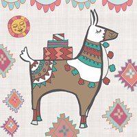 Playful Llamas I Framed Print