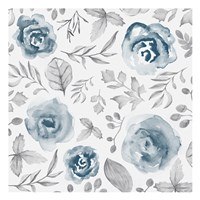 Blue Fade Foliage Fine Art Print