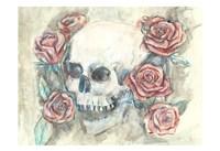 Skull and Roses Fine Art Print