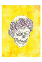 Skull with Rose Crown Fine Art Print