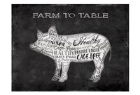 Farm To Table Pig Fine Art Print