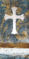 Cross On Blue Fine Art Print