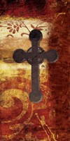 Cross On Red Fine Art Print