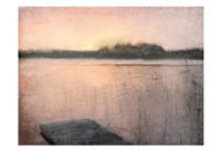 Pink Sunset at the Lake Fine Art Print