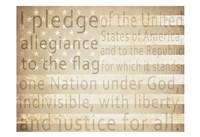 Pledge of Allegiance Fine Art Print