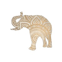 Elephant Gold 1 Fine Art Print