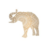 Elephant Gold 3 Fine Art Print