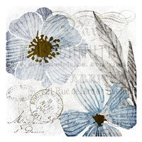 Soft Floral Blue 2 Fine Art Print