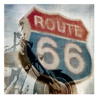 Route 66 Riding Fine Art Print