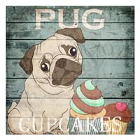 Pug Cupcakes Fine Art Print