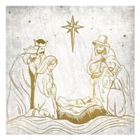 Nativity Gold Fine Art Print