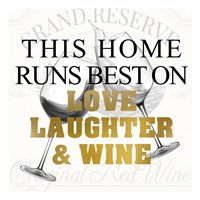 Love Laughter and Wine Fine Art Print
