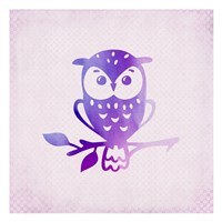 Purple Pink Owl 1 Fine Art Print